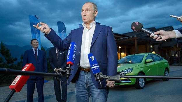 Путин дал старт подаче газа в Крым