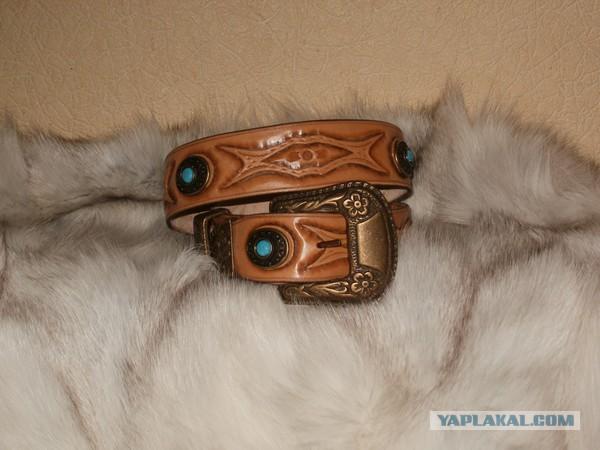 Продам кожаный ремень и браслет