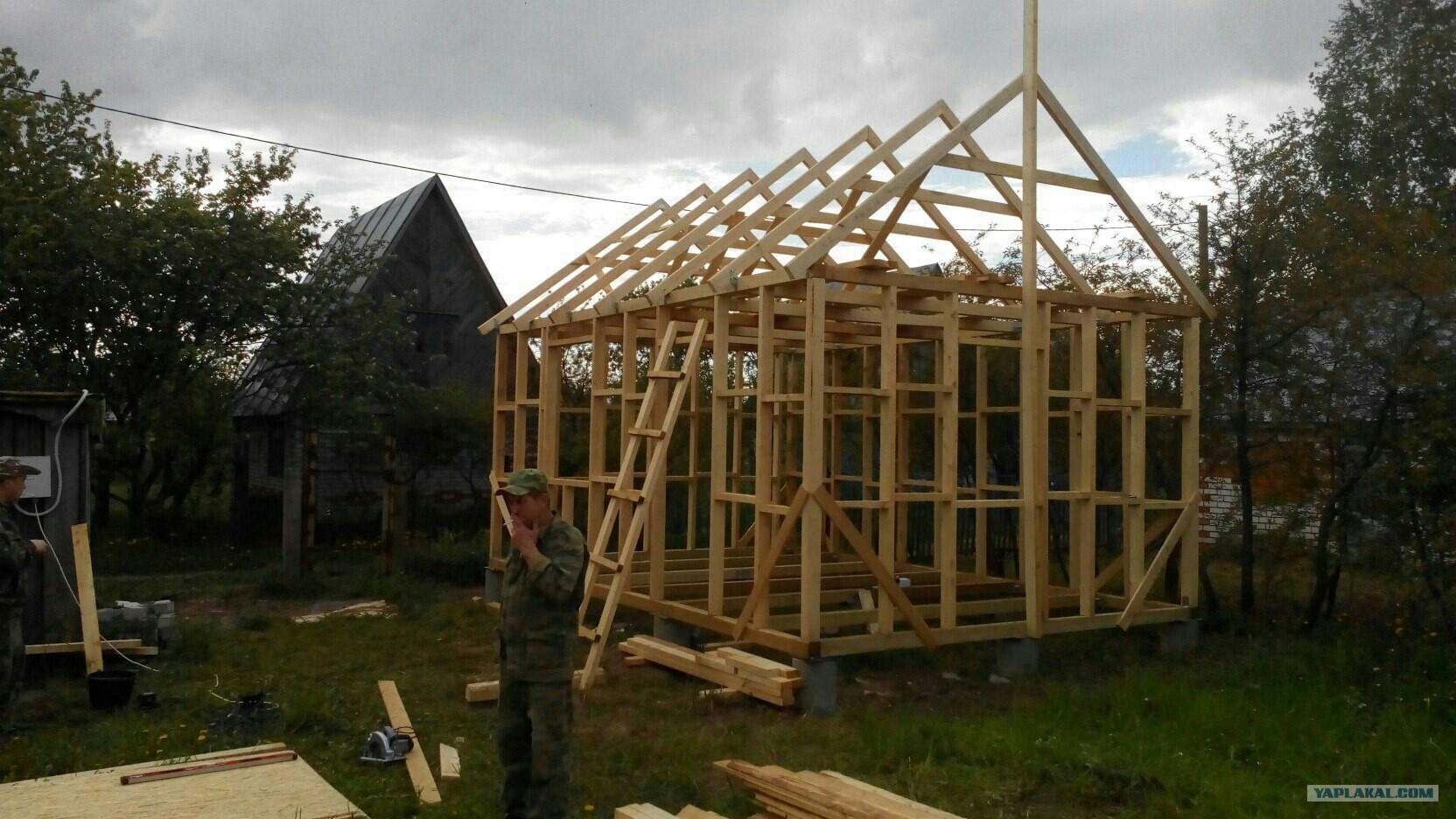 Построить каркасный домик 3 на 4 своими руками