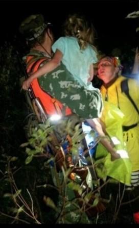5ти летнюю девочку нашли в лесу через четыре дня