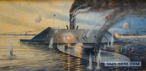 the battle between the uss monitor and the css merrimack in the civil war The uss monitor's story  the civil war battle of hampton roads between the ironclads uss monitor and css virginia (formerly the uss merrimack).