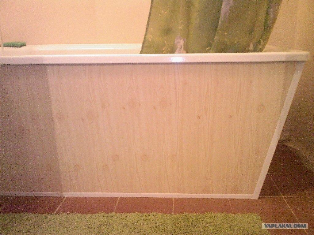 Экран для ванной своими руками из панелей пвх
