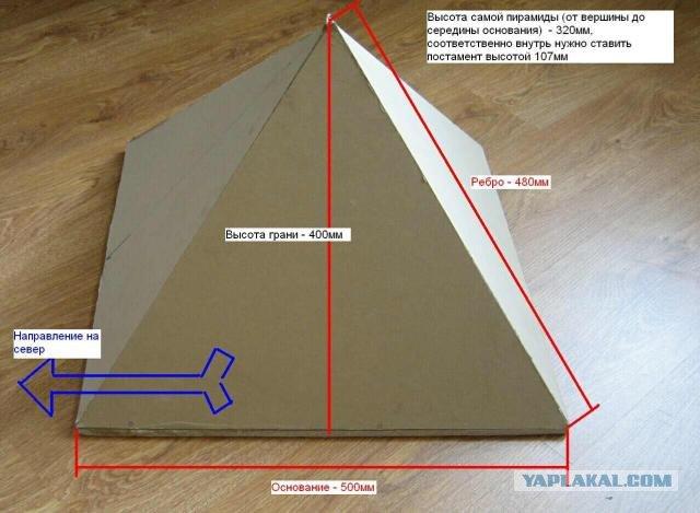 Как сделать пирамиду своими руками с бумаги
