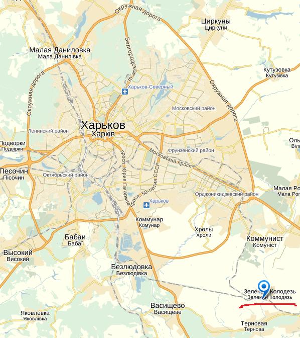 карта харьковской области для рыбалки
