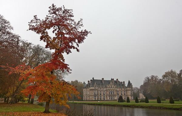 Осенние замки Франции (43 фото)