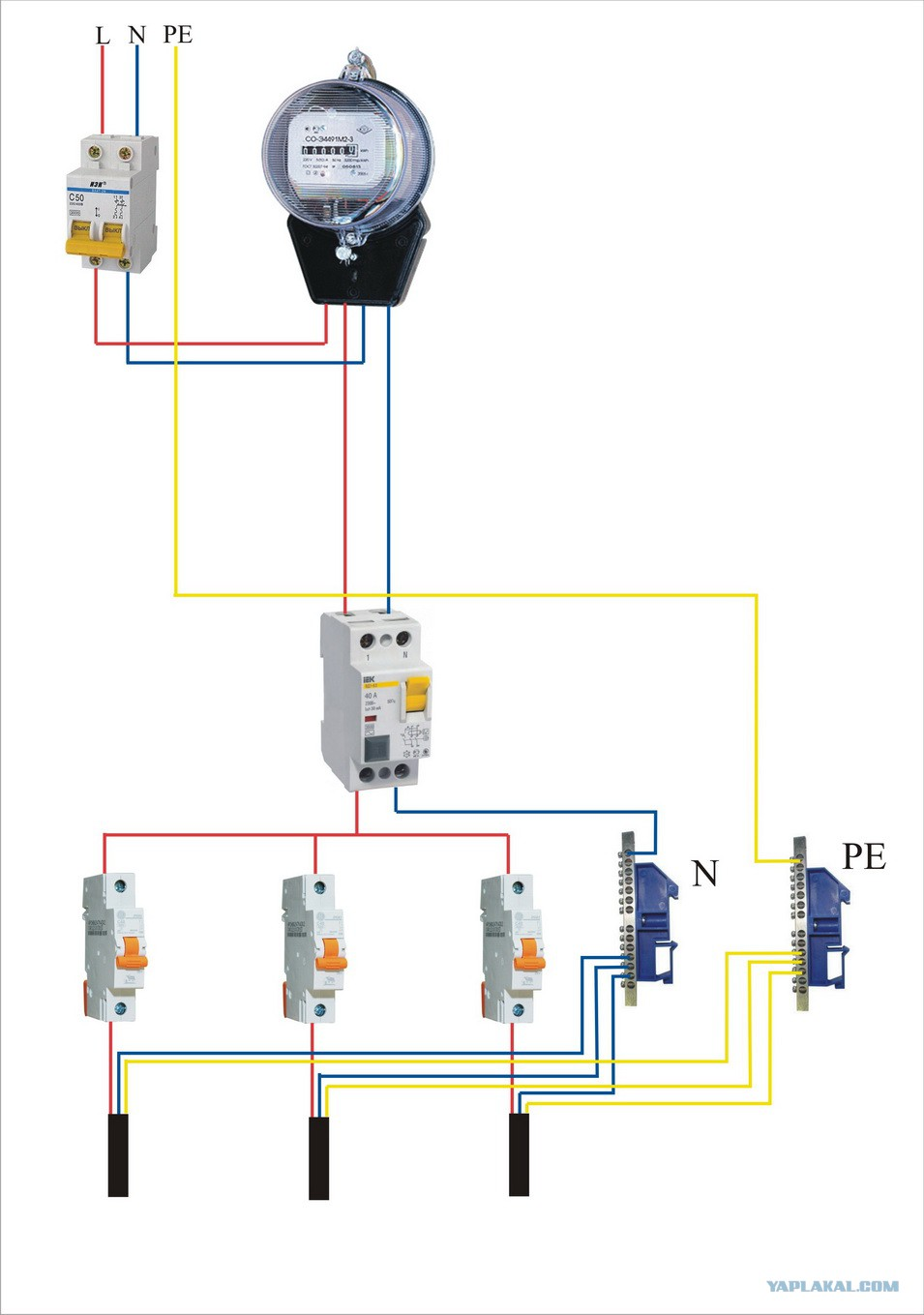 Схема подключения счетчика электроэнергии своими руками