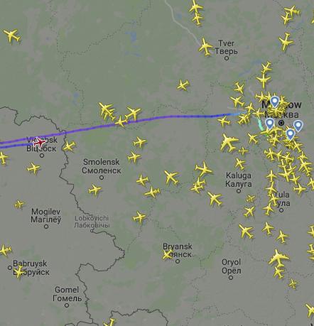 Самолёт UTair подал сигнал о ЧП на борту и возвращается в Москву