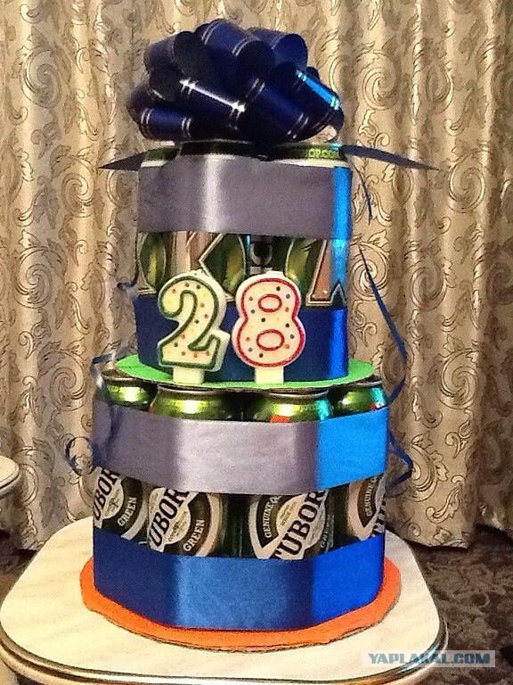 Торт для мужчины из банок пива своими руками 594