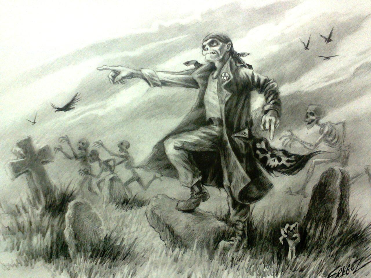 среди ублюдков шел артист в кожаном