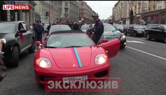Свадебный кортеж задержан за стрельбу по москвичам