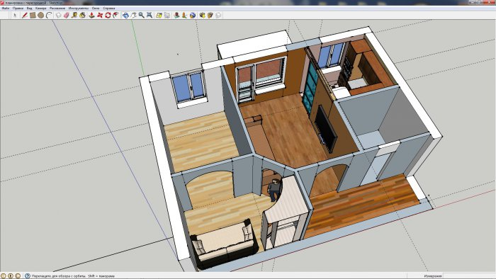 Дизайн 2-х комнатной квартиры 45 кв.м хрущевки