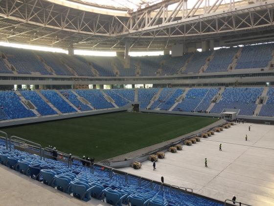 Выкатное поле «Зенит-Арены» непригодно для чемпионата мира