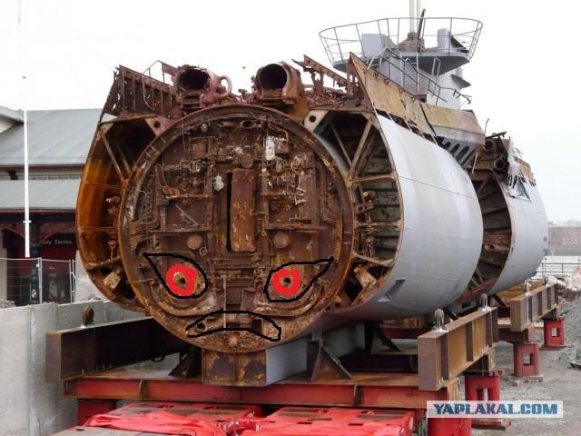 атомная подводная лодка разборка