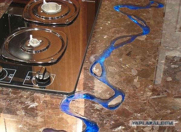Синяя река на твоей кухне! (15 фото)