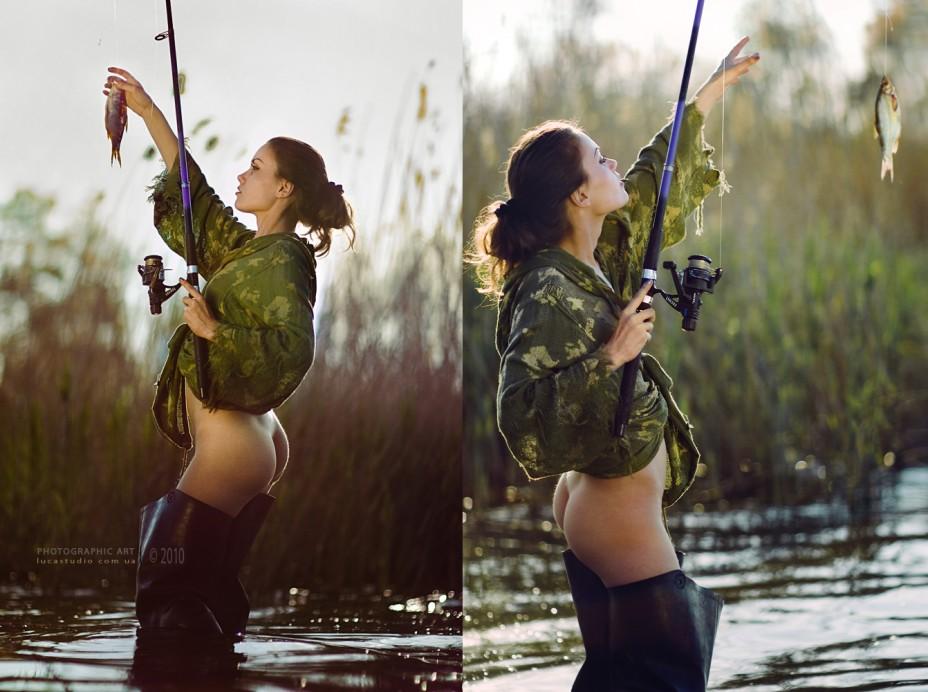 Секс большегрудой на охоте работает