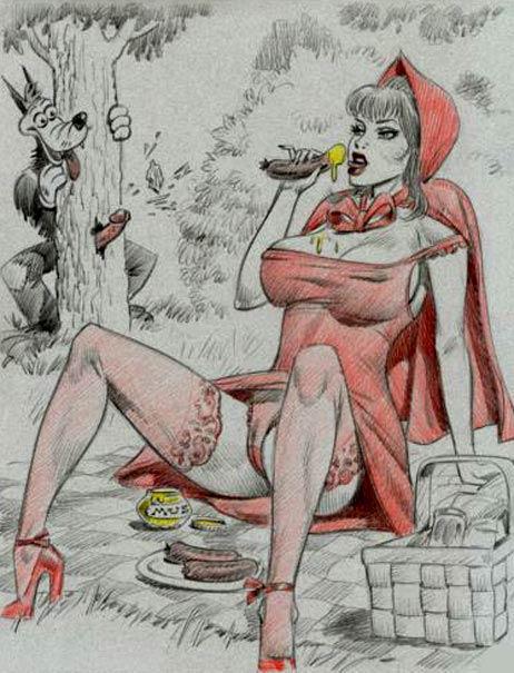 красная шапочка эротическая.