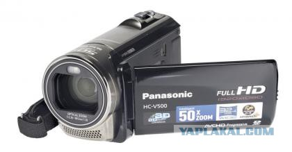 Full-HD panasonic hc-v500 + штатив