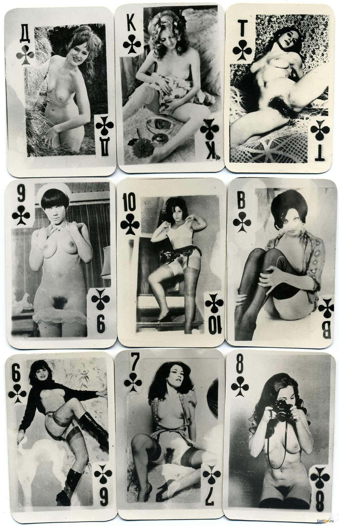 Эротические игральные карты советских времен 3 фотография