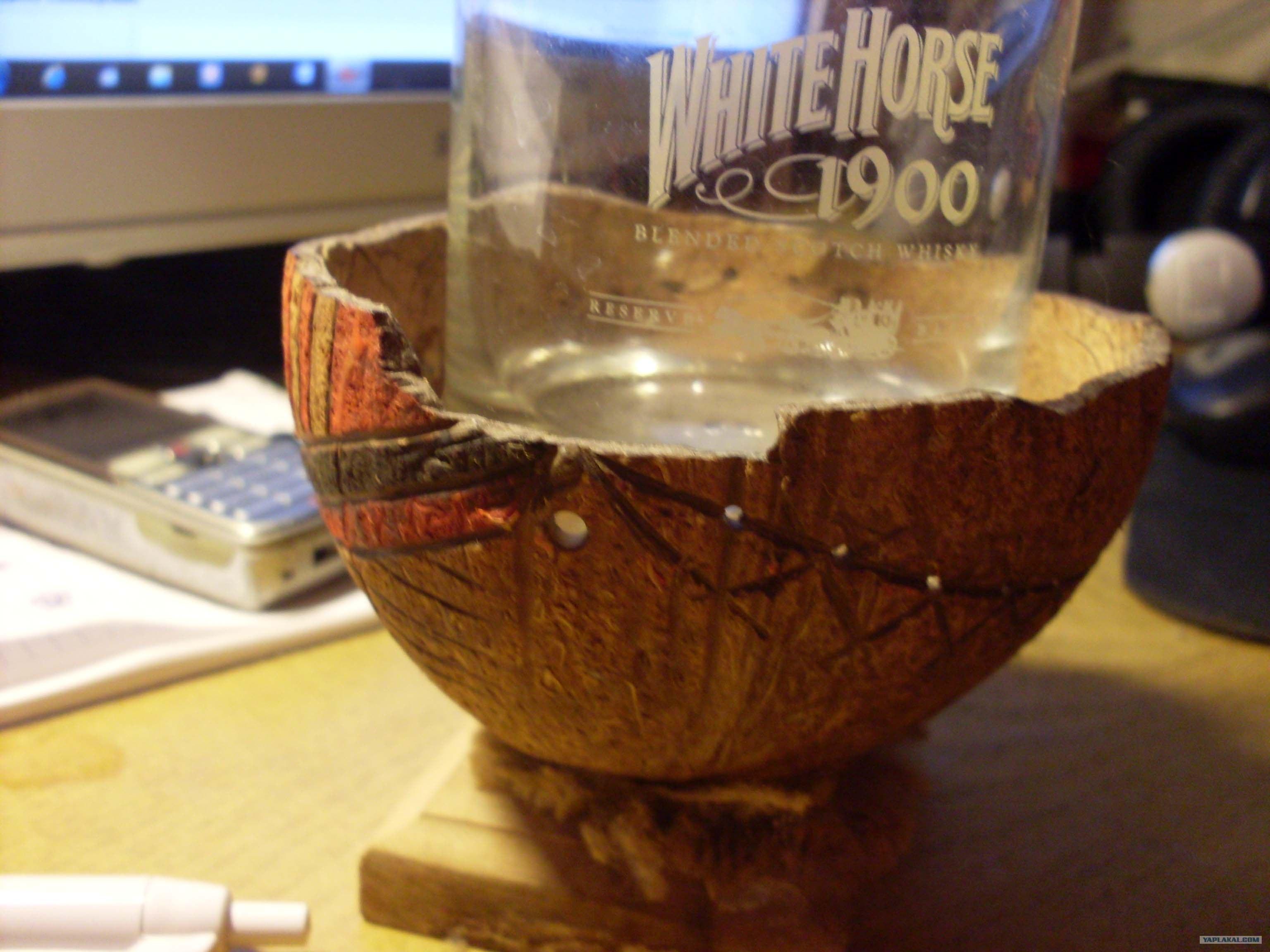 Пепельница из кокоса своими руками фото
