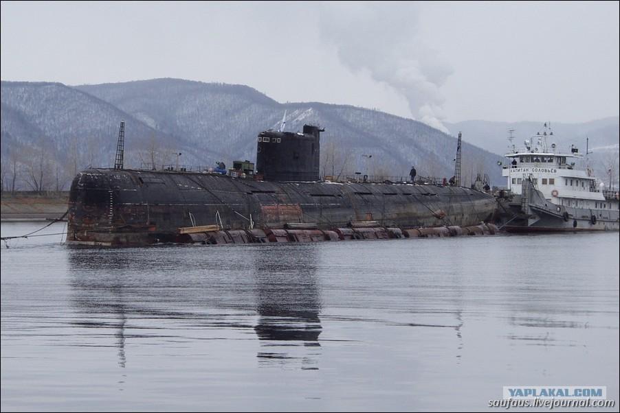 в тольятти тащили подводную лодку