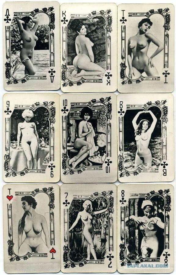фото ретро порно игральных карт