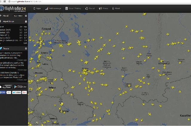 Россия запретила Украине полеты над территорией РФ