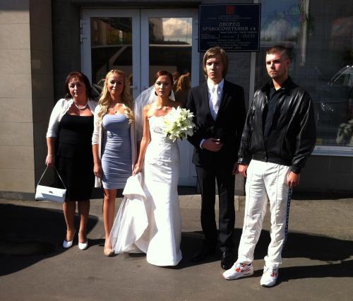 грудастая невеста и свидетель