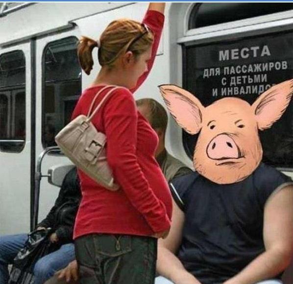 Беременным не уступают место в метро 29