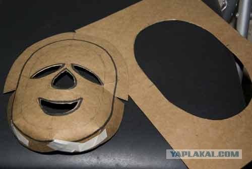 Как сделать страшную маску из картона