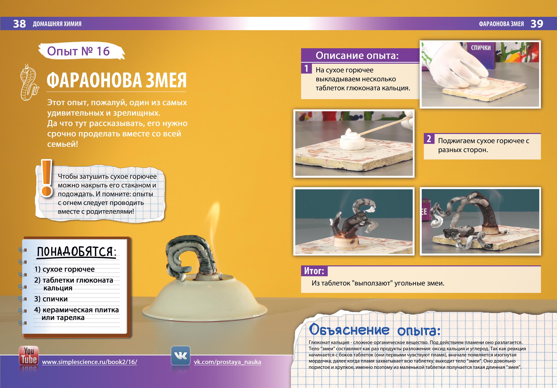 Опыты химии домашних условиях