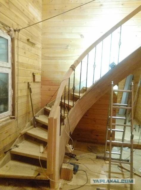 Гнутая лестница из фанеры