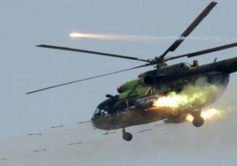 Сбит украинский вертолет.