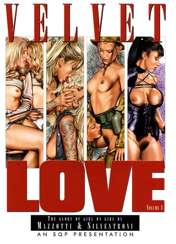 """Иллюстрации из альбомов """"Velvet Love""""(18+)"""