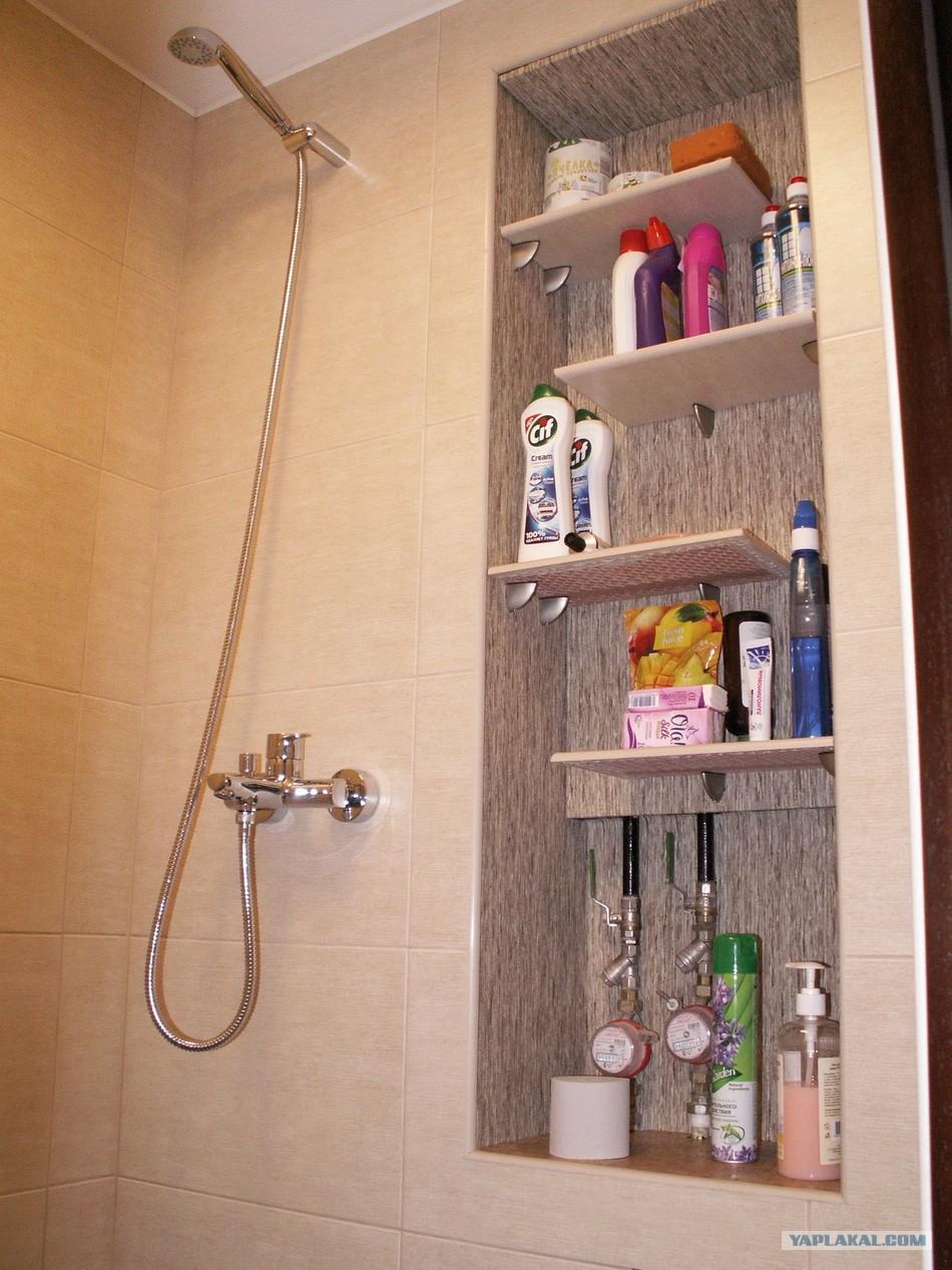 Ванная комната своими руками с полочками