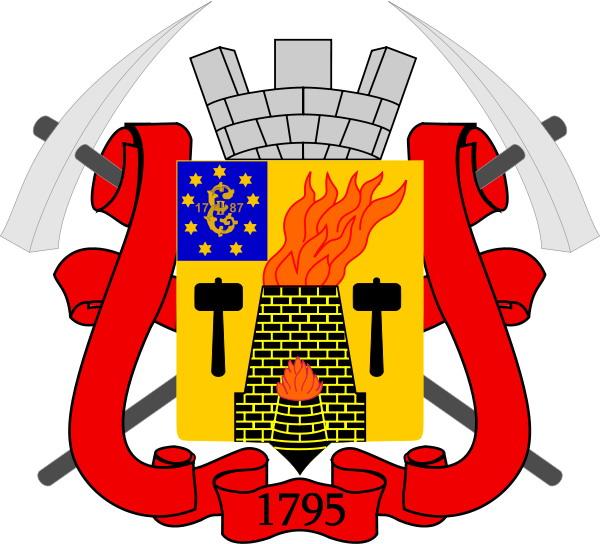 молоток на гербе города