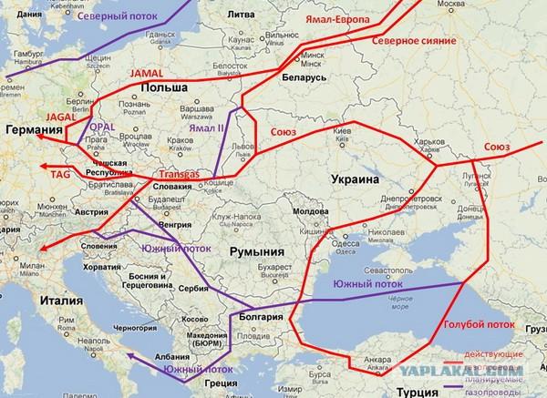 Газопровод ямал-европа отключен