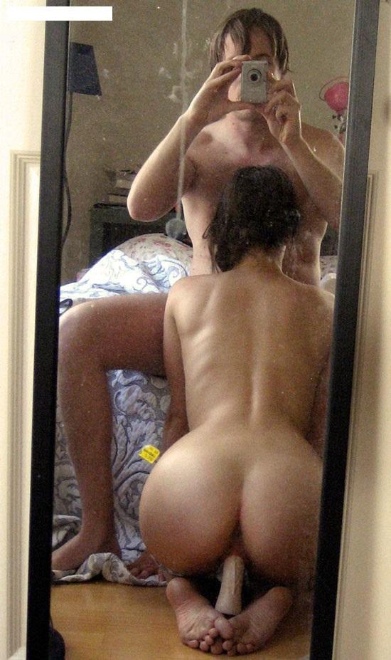 отражение в зеркале порно разных
