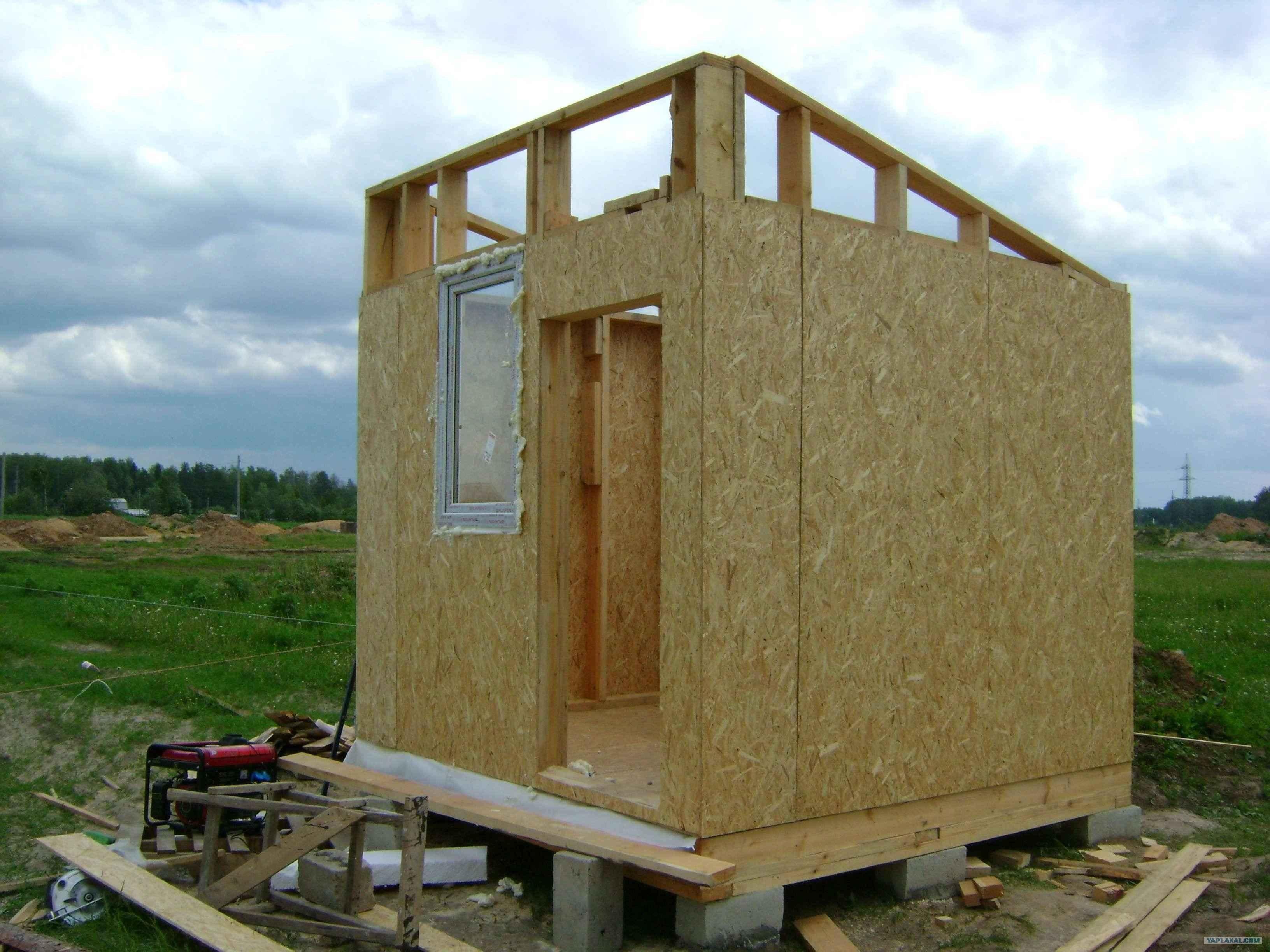 Как построить сарай из осб своими руками проекты 19