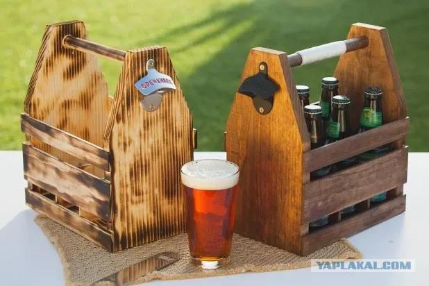 Ящики для переноски пива.