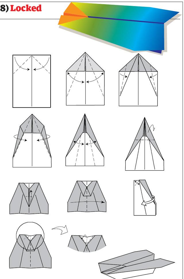 Разные самолеты из бумаги - X-diagnostic
