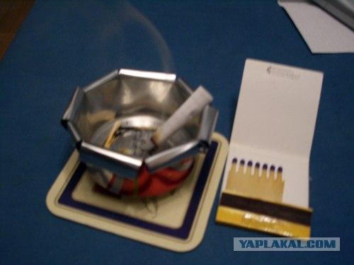 Пепельница из пивной банки фото