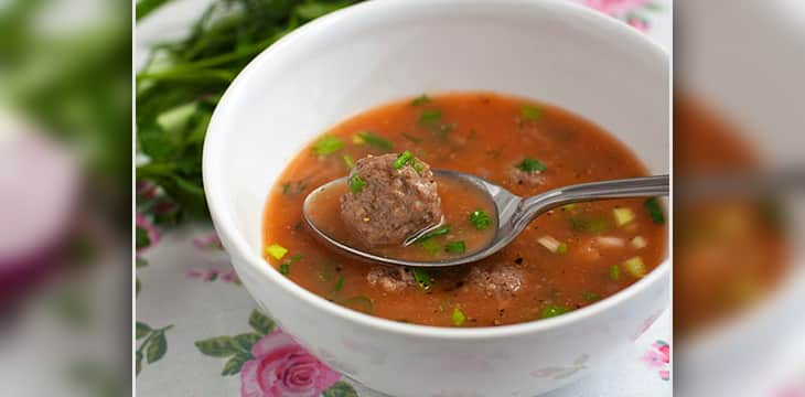 Простой суп с фрикадельками пошаговый