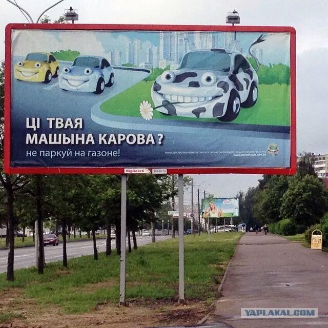 В Барнауле установили дорожные знаки, на которых водителей сравнили с животными
