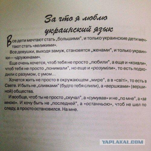 """Рассказ """"За что я люблю украинский язык"""""""