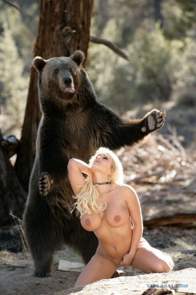 С медведем в лесу порно