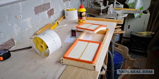 Система фильтрации воздуха в домашней мастерской
