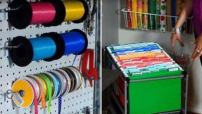 Хранение бумаги в мастерской Хранение крепежа в мастерской - Домашняя мастерская