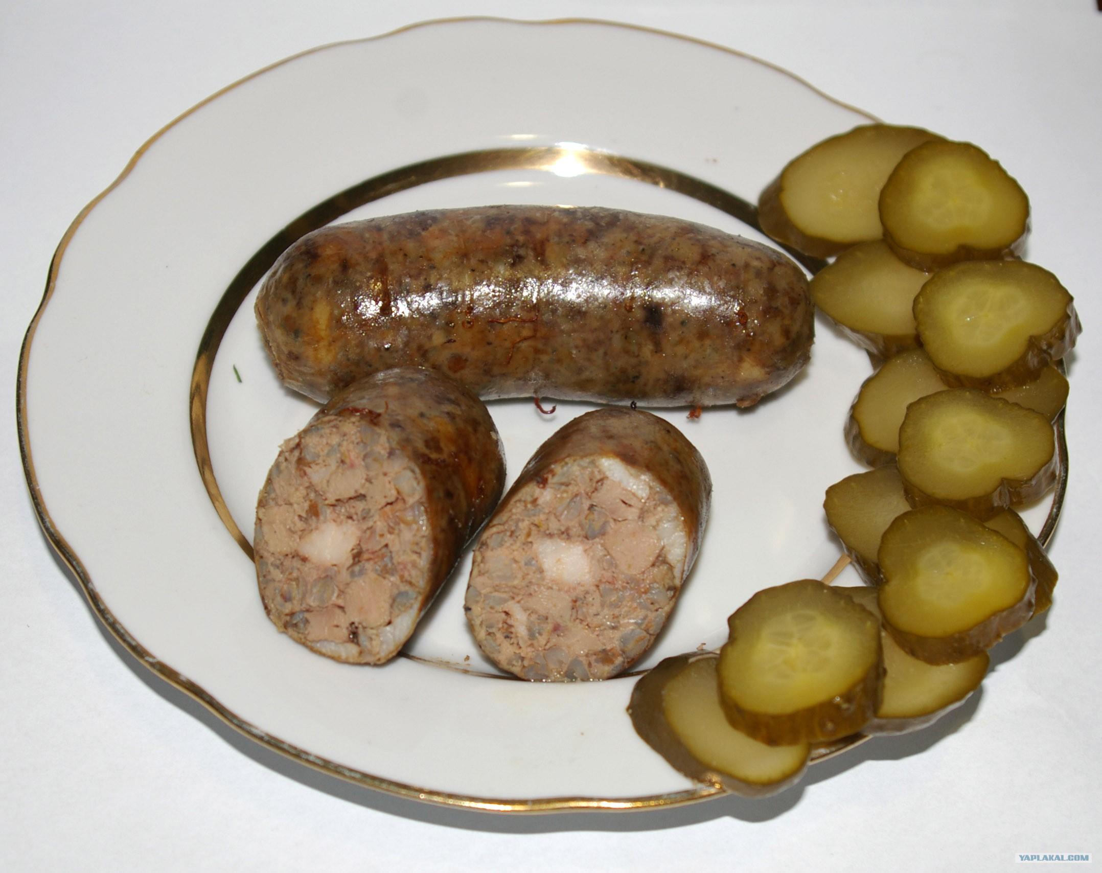 Печеночная колбаса в пакете рецепт
