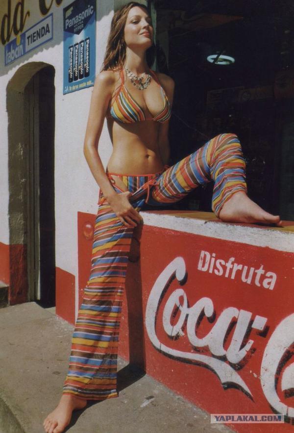 Реклама Coca Cola в 1970-м году