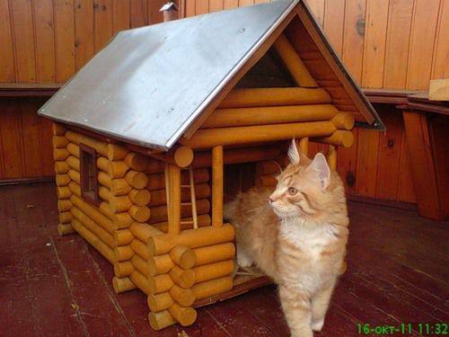 Как сделать котят из бревна